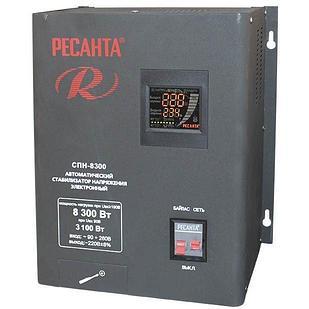 Стабилизатор пониженного напряжения РЕСАНТА СПН-8300 8,3 кВт Однофазный, Релейный
