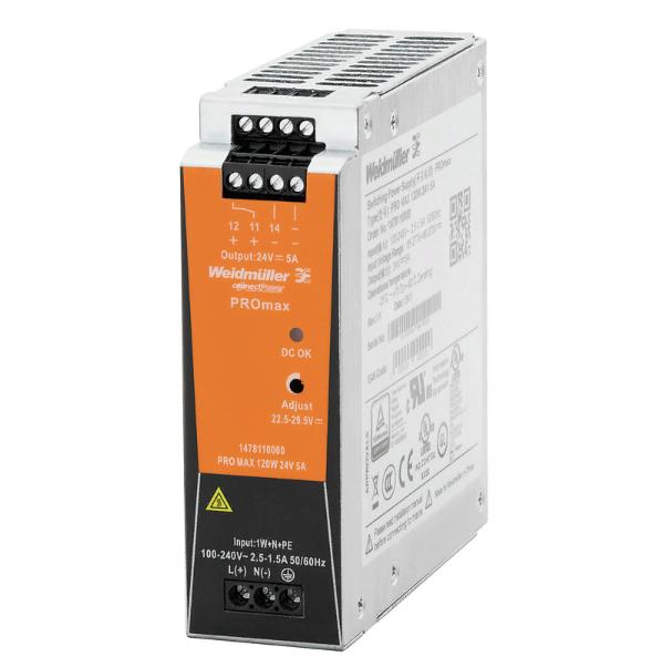 Блок питания PRO MAX 120W 24V 5A, 1-фазный