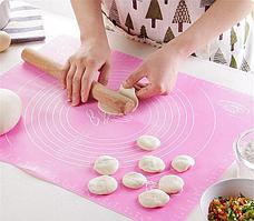 Силиконовый кулинарный коврик 40х50 см, цвет розовый, фото 3