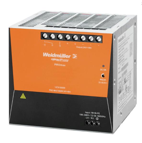 Блок питания PRO MAX 960W 24V 40A, 1-фазный