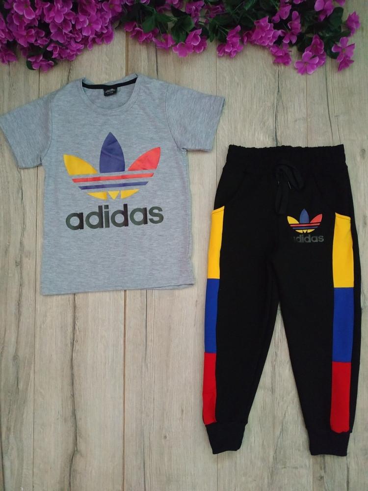 """Спортивный костюм """"Adidas"""", цвет серый 9-10 лет."""