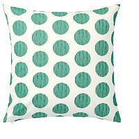 Чехол на подушку, ОСАТИЛЬДА  неокрашенный темно-зеленый, точечный, 50x50 см ИКЕА, IKEA, фото 1