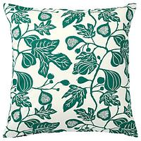 Чехол на подушку,  АЛЬПКЛЁВЕР неокрашенный, темно-зеленый, 50x50 см ИКЕА, IKEA, фото 1