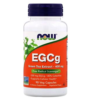 Now Foods, EGCg, экстракт зеленого чая, 400 мг, 90 растительных капсул