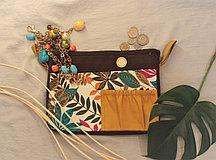 Органайзер одинарный текстильный для сумок цветной с принтом