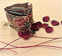Органайзер складной текстильный для сумок с принтом