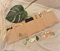 Органайзер складной текстильный для сумок однотонный бежевый
