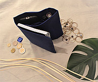 Органайзер складной текстильный для сумок однотонный синий