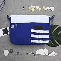 Органайзер двойной текстильный для сумок полосатый