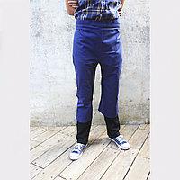 Фартук-брюки поясной удлиненный с разрезом спереди