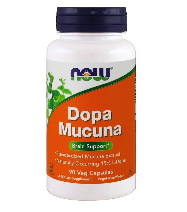 Now Foods, Dopa Mucuna, 90 растительных капсул