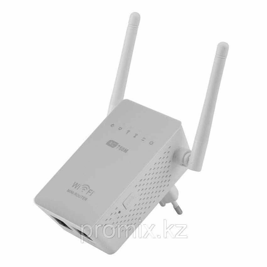 Беспроводной двухдиапазонный усилитель сигнала Wi-Fi AC 750 M