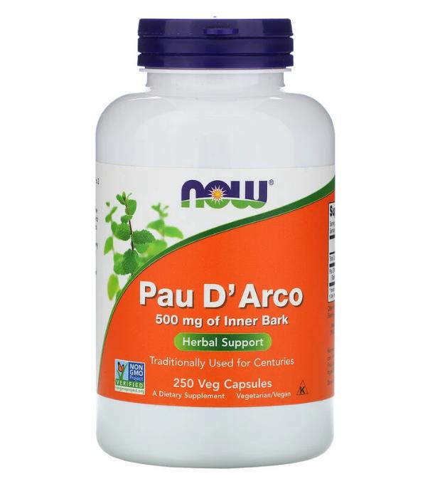 Now Foods, Кора муравьиного дерева, 500 мг, 250 растительных капсул