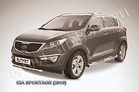 Защита переднего бампера d76 короткая KIA Sportage 2010-16