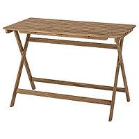 Стол складной АСКХОЛЬМЕН серо-коричневый 112x62 см ИКЕА, IKEA, фото 1