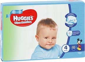 Подгузники Huggies Ultra Comfort 4 (8-14kg) 80 шт. для мальчиков