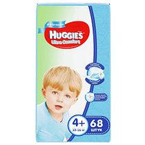 Подгузники Huggies Ultra Comfort 4+ (10-16kg) 68 шт. для мальчиков