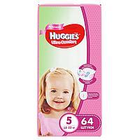 Подгузники Huggies Ultra Comfort 5 (12-22kg) 64 шт. для девочек