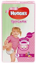 Трусики Huggies (Ultra Comfort) Little Walkers 6 (16-22kg) 44 шт для девочек