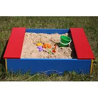 Детская разноцветная песочница для улицы