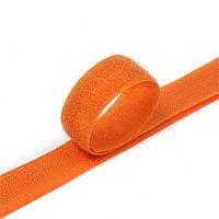 Липучка 25 мм,пришивная,хаки оранжевая