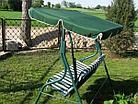 """Качеля садовая """"Фазенда"""", (двухместная, зеленая) HC-128, фото 2"""