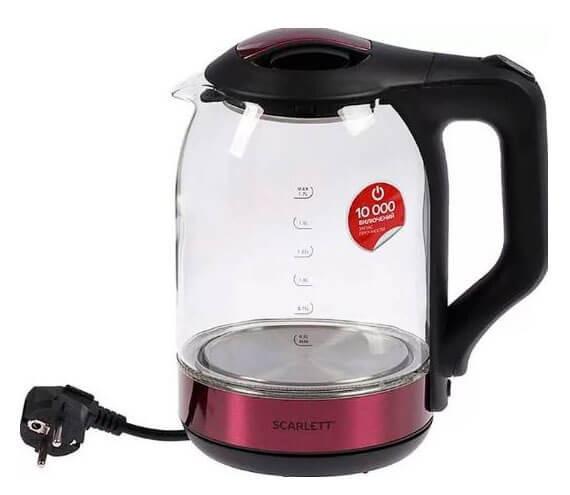 Электрический чайник Scarlett SC-EK27G44 (стекло)