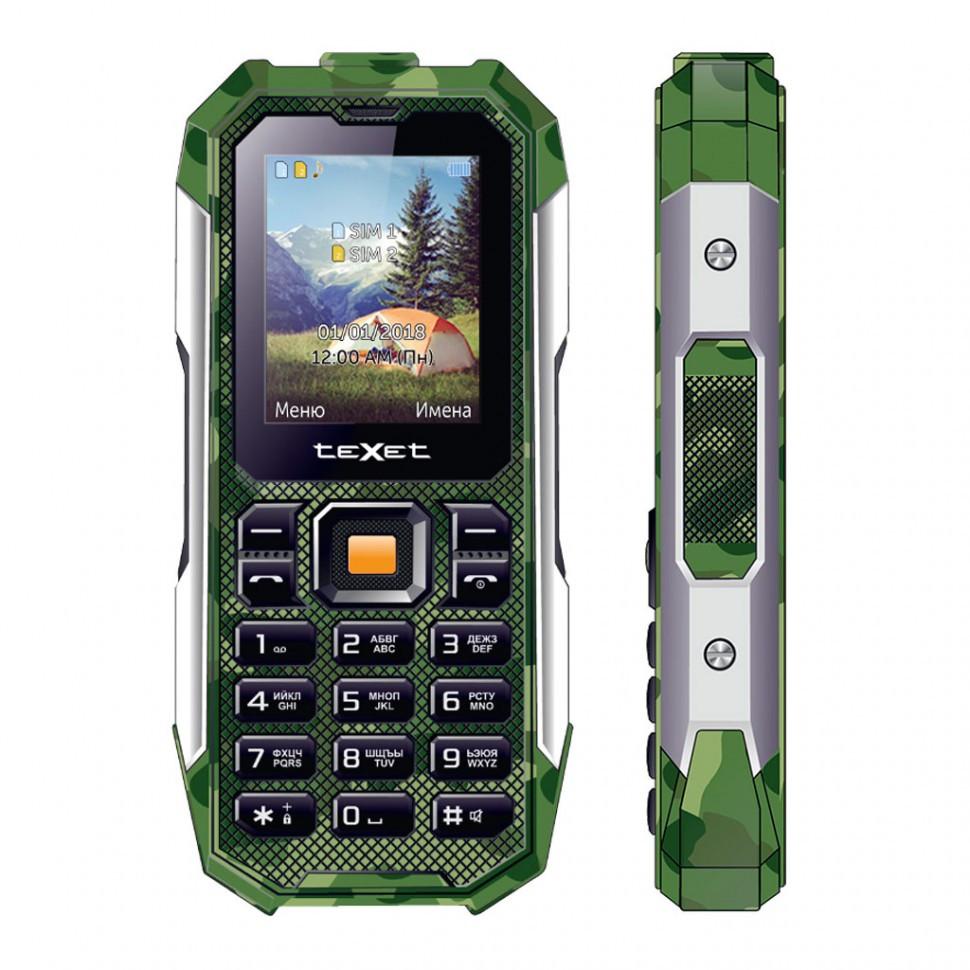 Мобильный телефон Texet TM-518R зеленый
