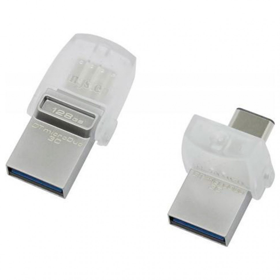 USB Флеш 128GB 3.0 Kingston OTG DTDUO3C/128GB металл