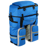 Велосумка на багажник Course 80-100 л, цвет синий