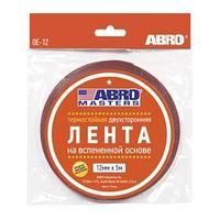 Лента клейкая ABRO двухсторонняя белая, 12 мм х 5 м OE-12-R (комплект из 22 шт.)