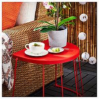 ТРАНАРЁ Табурет/приставной стол,д/дома/сада, красный, 56x41x43 см, фото 1
