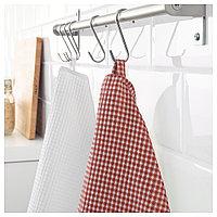 ТРОЛЛЬПИЛ Полотенце кухонное, белый, красный, 50x70 см, фото 1