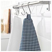 ТРОЛЛЬПИЛ Полотенце кухонное, белый, синий, 50x70 см, фото 1