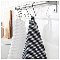 ТРОЛЛЬПИЛ Полотенце кухонное, белый, черный, 50x70 см, фото 1