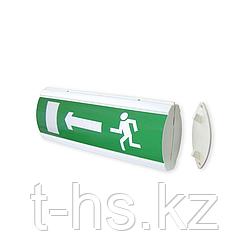 """ЛЮКС-24Д """"Человек стрелка влево дверь"""" Оповещатель световой, двусторонний 24В, табло"""