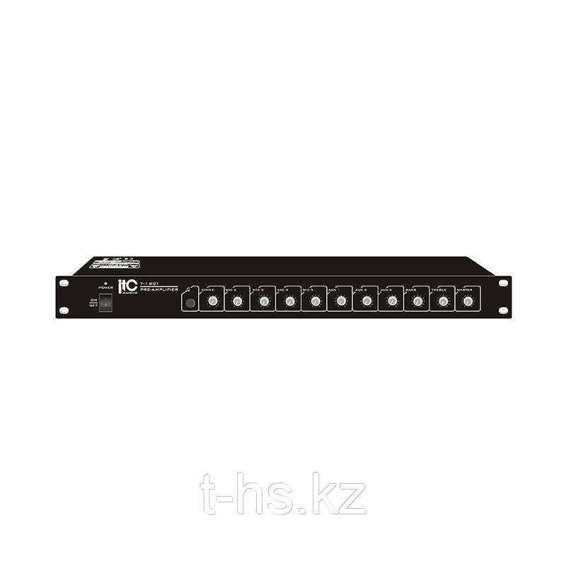 ITC T-1S01 Предусилитель микрофонный-микшер, 4 микр вх, 4 линейных вх, 1 канал