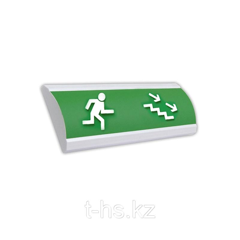 """ЛЮКС-12 """"Лестница вниз-вправо"""" Оповещатель световой, 12В, табло"""
