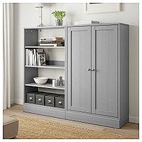 ХАВСТА Комбинация д/хранения, серый, 162x37x134 см, фото 1