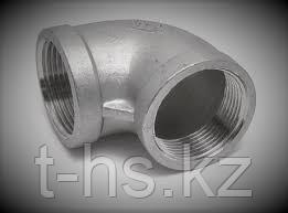 DN40 (90 градусов) Отвод резьбовой (нерж.)