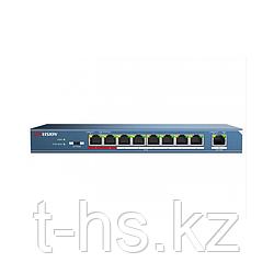 Hikvision DS-3E0109P-E PoE свитч 8-портовый