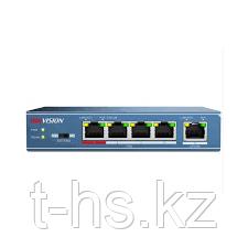 Hikvision DS-3E0105P-E/M PoE свитч 4-портовый