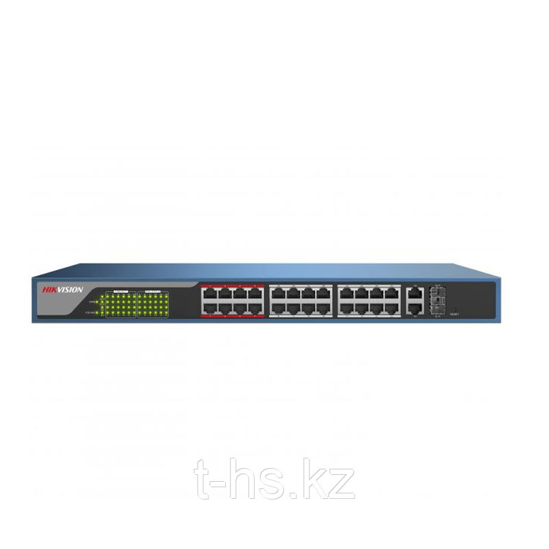 Hikvision DS-3E1326P-E PoE свитч 24-портовый