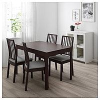 ЭКЕДАЛЕН Раздвижной стол, темно-коричневый, 120/180x80 см, фото 1