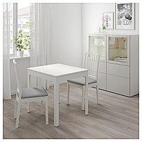 ЭКЕДАЛЕН Раздвижной стол, белый, 80/120x70 см, фото 1