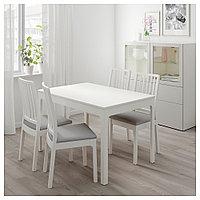 ЭКЕДАЛЕН Раздвижной стол, белый, 120/180x80 см, фото 1