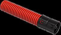 Труба гофр. двустенная ПНД d=63мм красная (50м) IEK