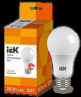 Лампа светодиодная ECO A60 шар 20Вт 230В 3000К E27 ИЭК