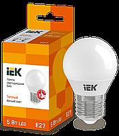 Лампа светодиодная ECO G45 шар 5Вт 230В 3000К E27 ИЭК