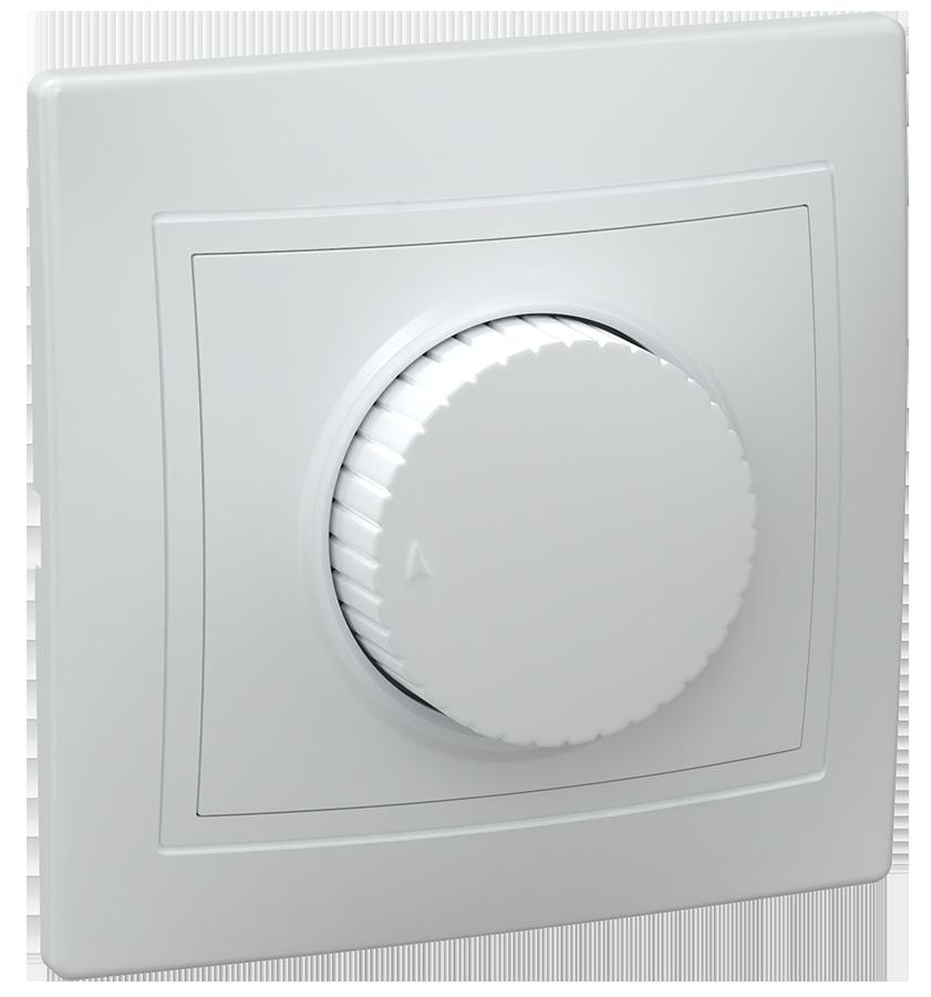 Светорегулятор поворот ВСР10-1-0-КБ КВАРТА (белый) ИЭК